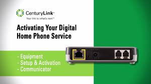 digital home phone quick start set up centurylink