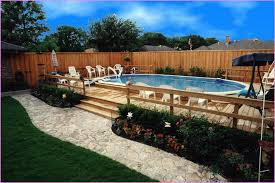 modern above ground pool landscaping