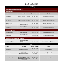 client contact list template contact list template 19 free sample example format free