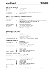 Gallery Of Resume Templates Auto Body Technician Resume Resume