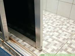 remove shower doors image titled remove sliding glass shower doors step 6 replacing shower door with