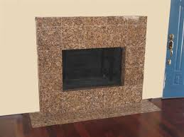 granite face fireplace and hearth