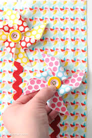 sewing pattern for a quiet book page with snap on pinwheels