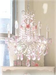 pink crystal chandelier little girl bedroom shabby chic baby girl room chandelier chandeliers for baby