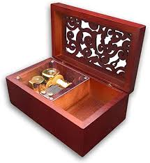 This is a music and jewelry box i made out of cherry with a maple top. Amazon Com Brown Wooden Hollow Out Music Box Jewelry Box With Sankyo Musical Movement 50 Tunes Option Twinkle Twinkle Little Star Home Kitchen