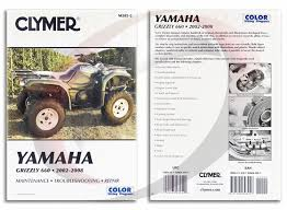 yamaha yfm f grizzly repair manual clymer m  2002 2008 yamaha yfm660 f grizzly 660 repair manual clymer m285 2 service shop