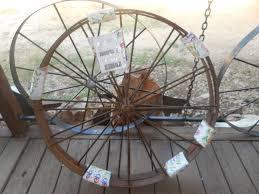 details about 2 decorative 36 steel ornamental iron garden wagon wheel western rustic art