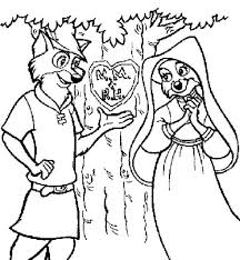 Small Picture Robin Hood Carving His Love on a Tree Coloring Pages Best Place