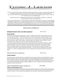 new resume with dti included with prescysce