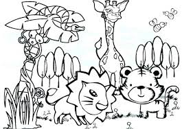 Coloring Pages Of Rainforest Animals Ilovezclub