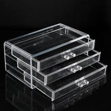 ... Acrylic Clear Container Makeup Case Cosmetic Storage Holder Organizer