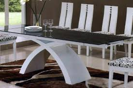 glass dining table. Buy-glass-dining-table-and-white-leather-chairs- Glass Dining Table