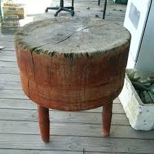 round butcher blocks antique primitive maple round wood butcher chopping block 3 legs rustic kitchen butcher block sealer home depot