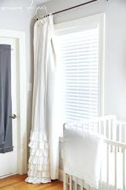 easiest tutorial ever for converting regular curtains into blackout curtains with no sewing at maisondepax white white ruffle