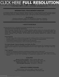 Procurement Sample Resume Resume Work Template