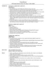 Laboratory Assistant Resume Samples Velvet Jobs