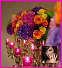 katy perry and russell brand wedding bollywood theme designer decor and gorgeous gown