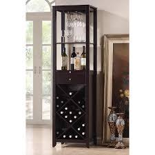 Baxton Studio Austin Brown 20-Bottle Wine Cabinet