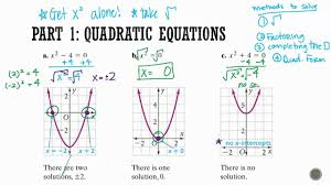 algebra 1 section 9 1 solving quadratic equations by taking the square root