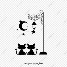 猫の壁紙 黒い 小猫 夜画像素材の無料ダウンロードのためのpngとベクトル