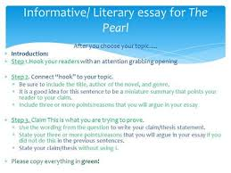 writing a literary analysis essay ppt video online  after you choose your topic  introduction  step 1