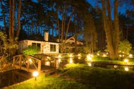 outdoor backyard lighting ideas. Unique Ideas Water Feature With Dramatic Lighting Inside Outdoor Backyard Lighting Ideas U