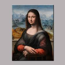 1 piece unframed famous artists paintings mona lisa portrait canvas painting for home art wall decoration art picture lz007 in painting calligraphy from