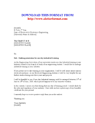 Application Letter For Industrial Cover Training Compatible Gallery