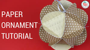 Paper Crafts For Christmas Christmas Crafts Paper Ball Ornaments Easy Paper Craft