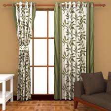 Small Picture Buy Freehomestyle Floral Window Curtains Green Set of 3 Online