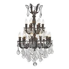 worldwide lighting versailles 21 in 18 light flemish brass crystal candle chandelier