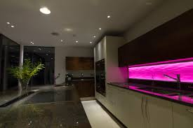 mews house lighting; kitchen lighting; lighting design .