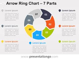 Arrow Ring Chart Powerpoint 7 Parts Arrow Ring Powerpoint Chart Presentationgo Com