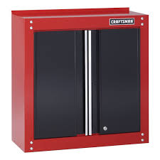 Craftsman 28quot Wide Wall Cabinet RedBlack Shop Your Free Standing