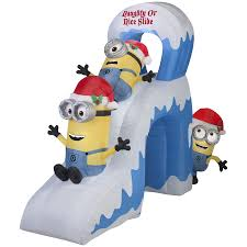 Shop Gemmy 7.87-ft Lighted Minion Christmas Inflatable at Lowes ...