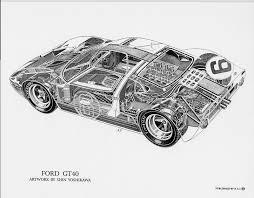 ford gt40 group 4 1966 racing cars ford gt40 cutaway by shin yoshikawa 76182954 std jpg