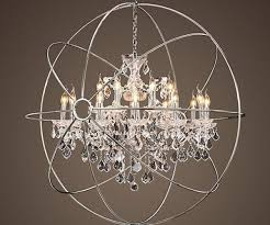 foucault s orb crystal chandelier polished nickel large