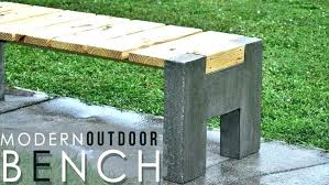 concrete garden benches cement bench making a modern outdoor wood large size of the s seat
