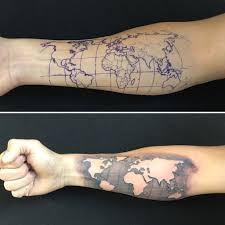 Geometrical World Map Tattoo Arm Pinterest And Of 10241024 9