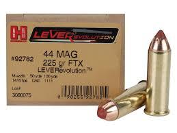 Hornady Leverevolution Ammunition 44 Remington Magnum 225 Grain Ftx Box Of 20