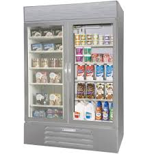 beverage air market max mmrf49 1 sw led stainless steel two section glass