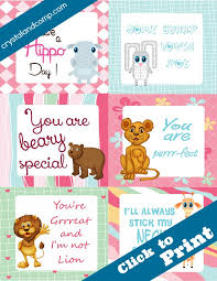 Free Printable Note Cards Free Printable Lunchbox Notes For Kids