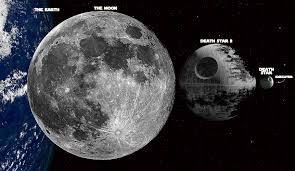 death star size size comparison of the two death stars to the earth and the moon imgur