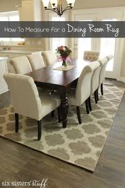 ... Dining Room Ideas, Amazing White Dark Brown Rectangle Modern Leather Dining  Room Rugs Stained Design ...
