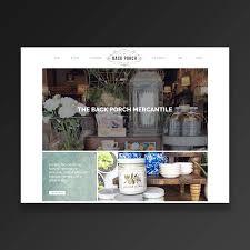 the back porch mercantile web design