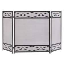 sheffield 3 panel fireplace screen in vintage iron