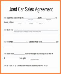 Automobile Sales Agreement Vehicle Sales Agreement Template Stanley Tretick
