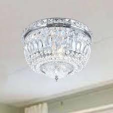 flush mount crystal chandelier chrome crystal basket flush mount chandelier jolie chrome drum shade crystal semi