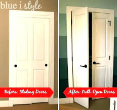 short closet doors sliding door ideas small space