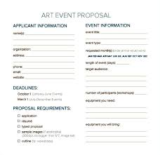Party Proposal Template Classy Art Proposal Template Calvarychristian